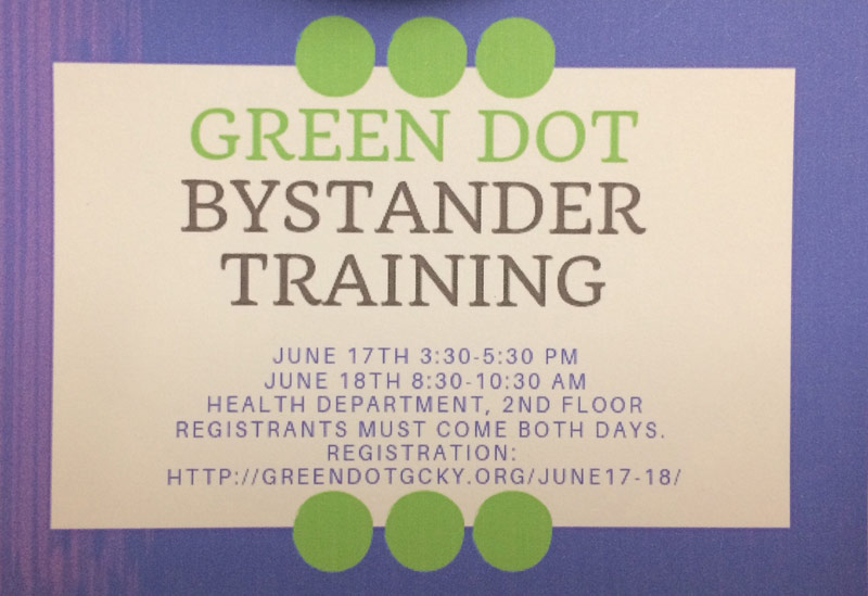 Green Dot training graphic