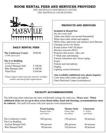 Maysville-Mason County Joint Planning Commission @ Maysville Municipal Building