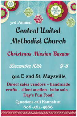2016 Christmas Mission Bazaar @ Central United Methodist Church | Maysville | Kentucky | United States