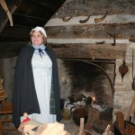 Costumed Tour Guide in Old Washington at Christmas