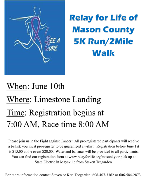 Relay for Life 5K – City of Maysville