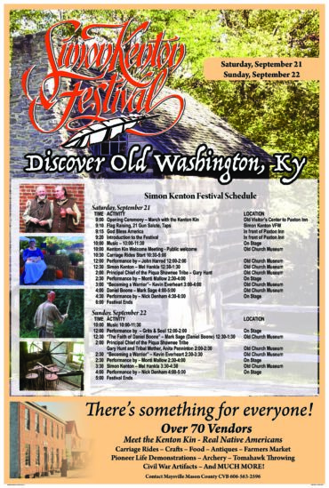 Simon Kenton Festival @ Old Washington | Maysville | Kentucky | United States