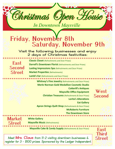 downtown christmas – City of Maysville