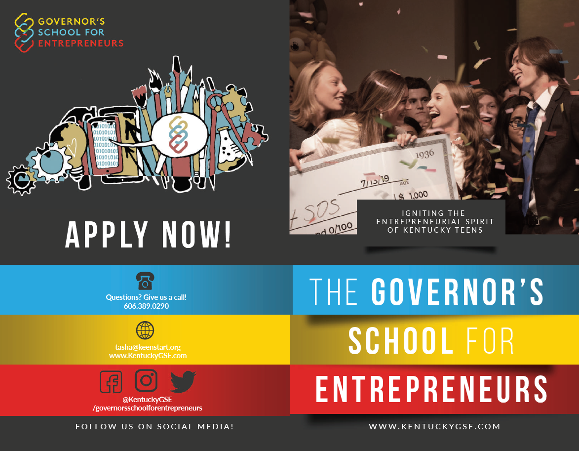 Governor's School for entrepreneurs graphic