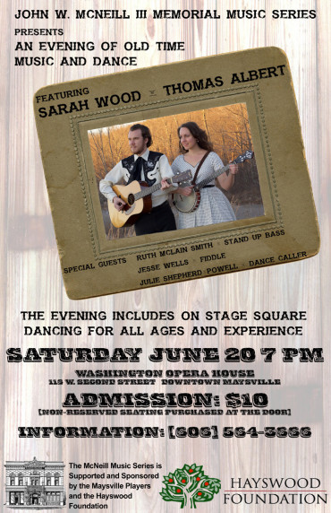 An Evening of Old Time Music and Dance @ Washington Opera House | Maysville | Kentucky | United States